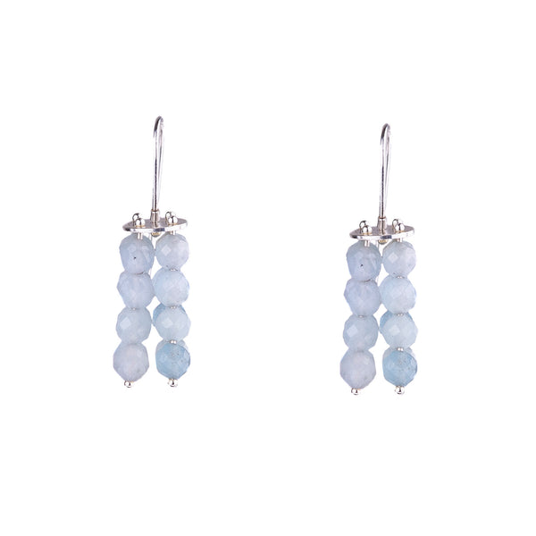 NEW! Aquamarine Beaded Earrings by Ashka Dymel