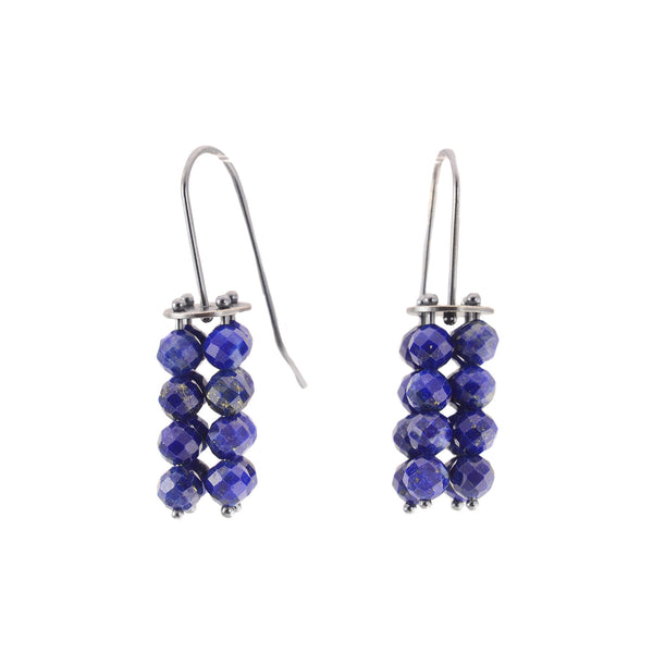 Lapis Beaded Earrings by Ashka Dymel