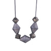 NEW! Mini Triple Bicone Necklace with Pyrite by Heather Guidero