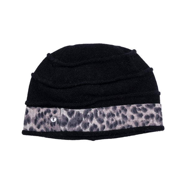 NEW! Black & Leopard Print Beehive Hat by`e ko logic