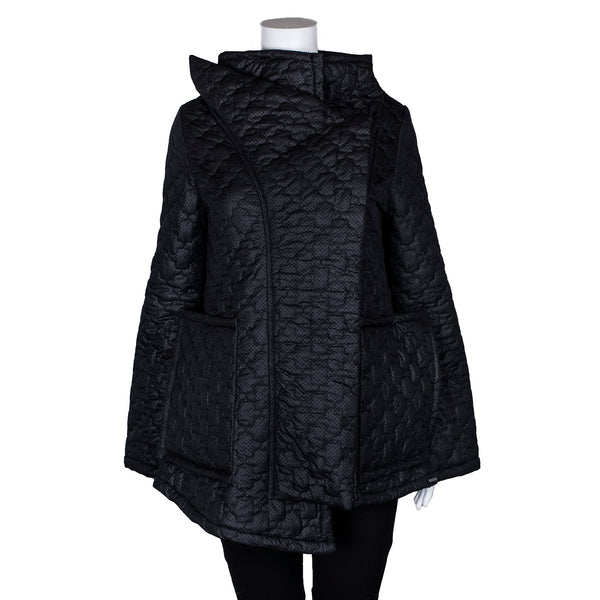 NEW! Sculptural Black Winter Jacket by Karaka