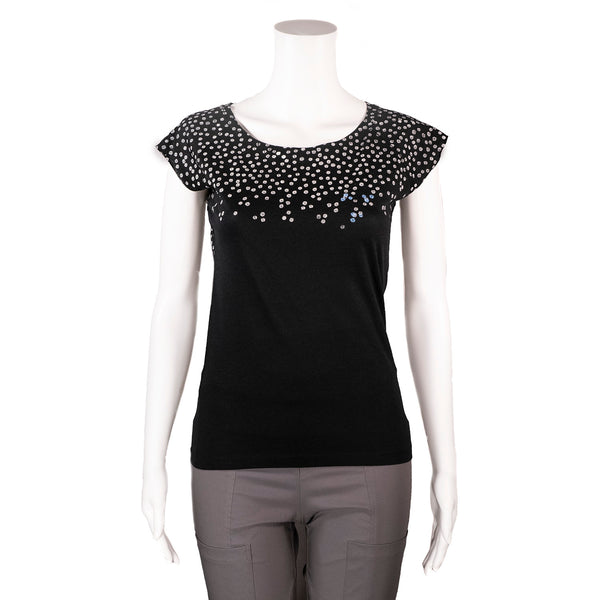 Black Blossom T-Shirt by Umsteigen