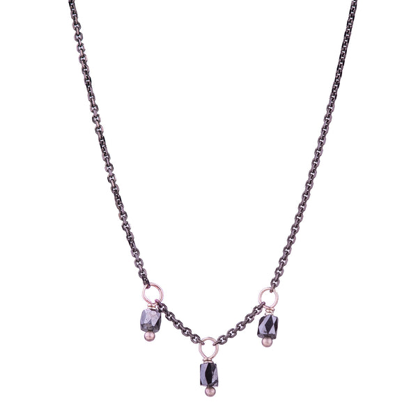 NEW! Slinky Black Diamond Bead Necklace by Carla Caruso