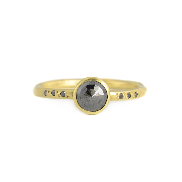 .70ct Round Black Diamond Chloe Setting Ring by Sarah Mcguire