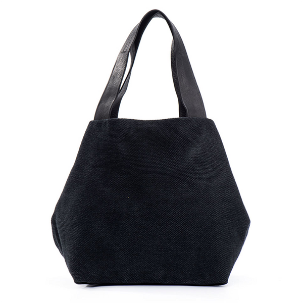 NEW! Medium Fabric Cube Bag in Black by Kisim