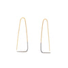 Large Two-Toned Triangle Pull-Through Earrings by Colleen Mauer Designs