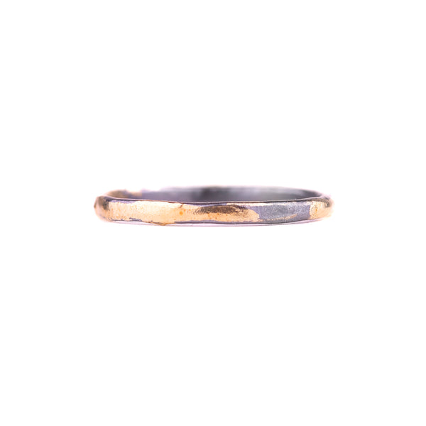 NEW! Black Moon Stacker Ring by Kate Maller