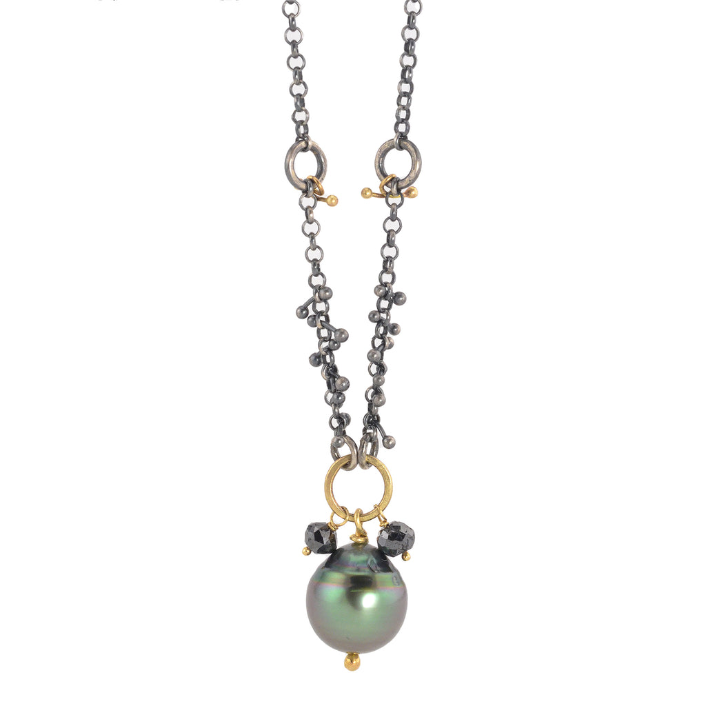 NEW! Diamonds and Pearls Necklace by Dina Varano