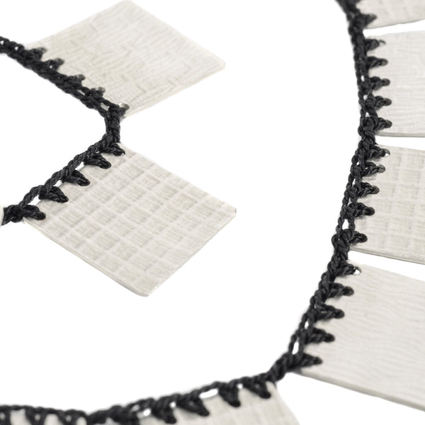 NEW! Black Cleopatra Square Necklace by Erica Schlueter