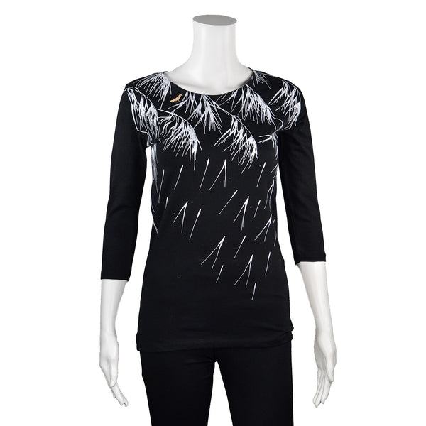 NEW! 3/4 Sleeve Black Whispers T-Shirt by Umsteigen