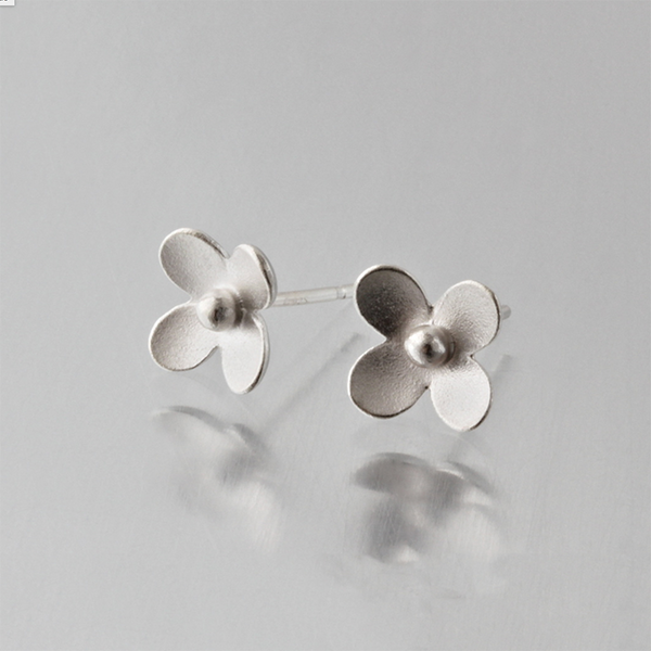 NEW! Silver Mini Blossom Flower Stud Earrings by EAM