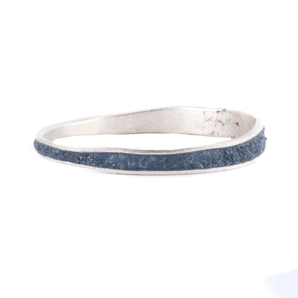 NEW! Medium Thin Bangle in Slate by David Urso