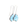 NEW! Enamel Cloud Earrings in Blue by Lisa Crowder