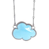 NEW! Enamel Cloud Necklace in Blue by Lisa Crowder