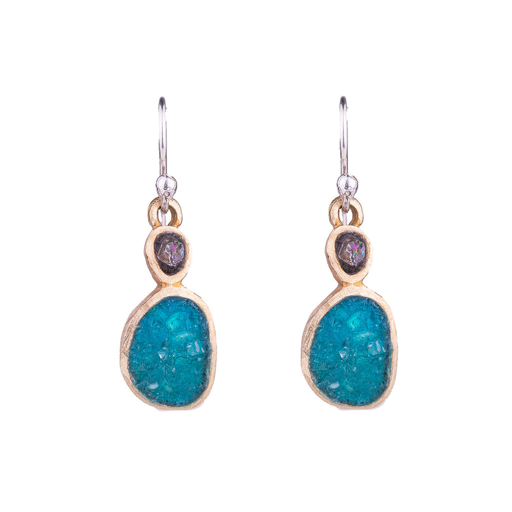 NEW! Turquoise Dotti Earring in Bronze by David Urso