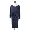 SALE! Draped Dress in Dark Heather Blue by gr.dano