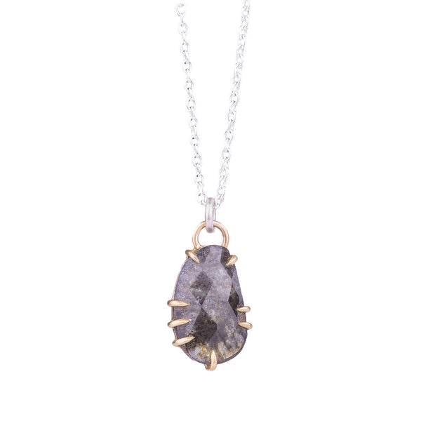 NEW! Bog Aquamarine Vanity Necklace by Hannah Blount