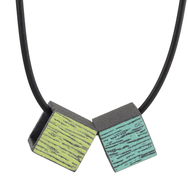 Double Small Boxy Necklace by Mary + Lou Ann
