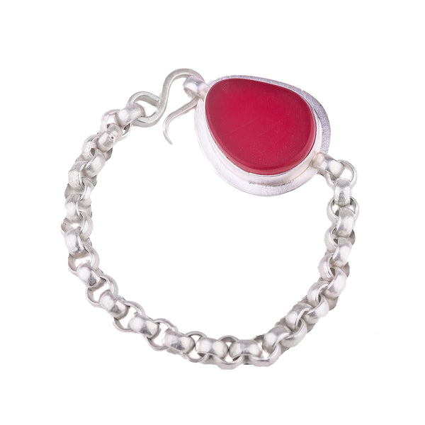 NEW! The Original Red Traffic Light Glass Bracelet by Amy Faust