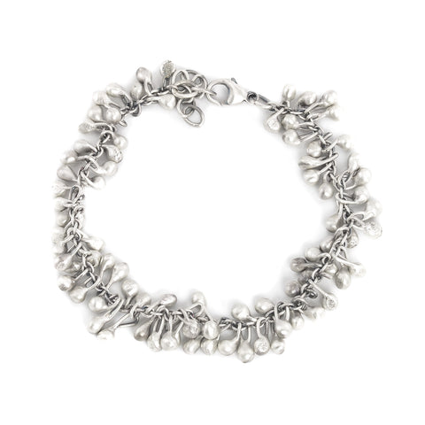 NEW! Oxidized Silver Fringe Bracelet by Dushka