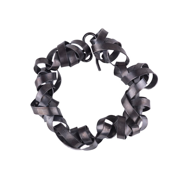 NEW! Oxidized Silver Ribbon Bracelet by Rina Young