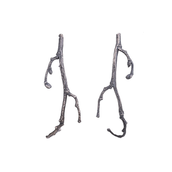 NEW! Oxidized Silver Branch Earrings by Sasha Walsh