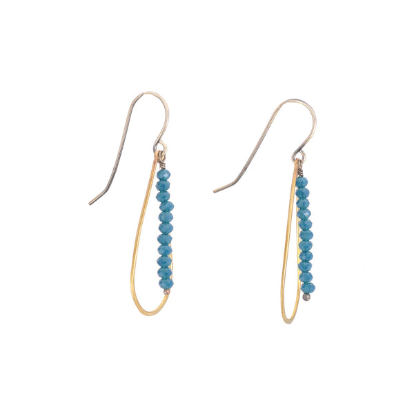Blue Denim and Brass Earrings by Eric Silva