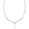 Brass and Green Garnet Necklace by Eric Silva