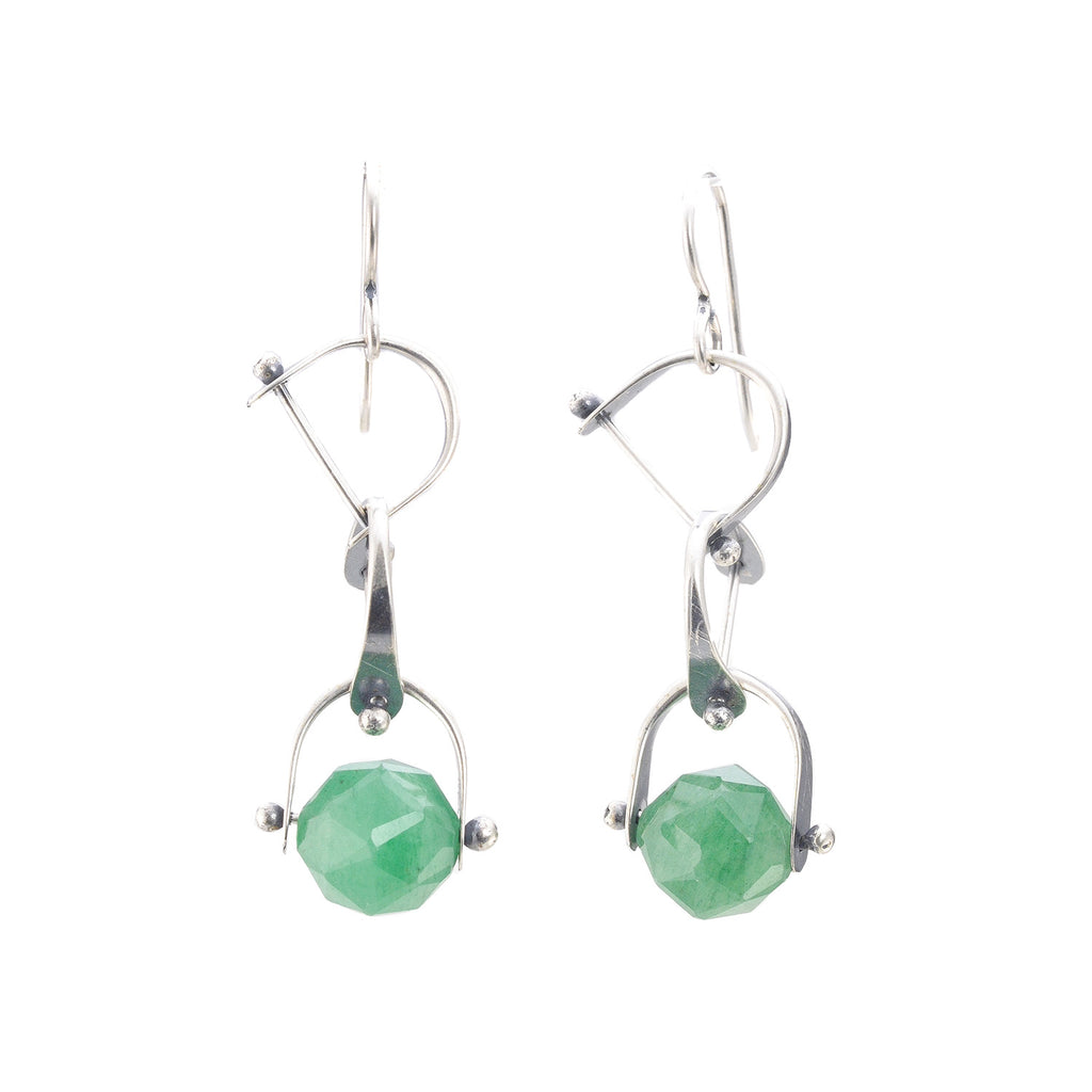 NEW! Bridle Earrings with Adventurine by Erica Stankwytch Bailey