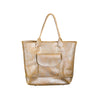 NEW! Large Leather Tote Bag in Silver Camel by Alfred Stadler