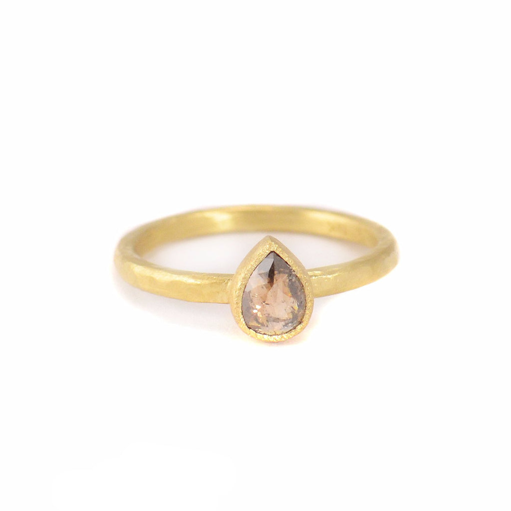 Half Carat Brown/Pink Diamond Ring by Yasuko Azuma