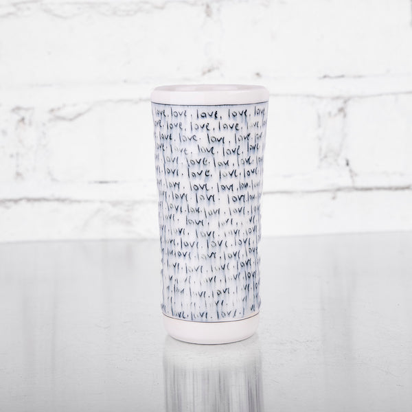 NEW! Bud Vase with Love Text by Nicole Aquillano
