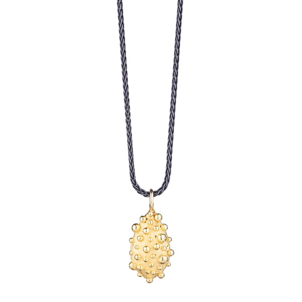 NEW! 18k Gold Bumpy Drop Pendant Necklace by Dahlia Kanner