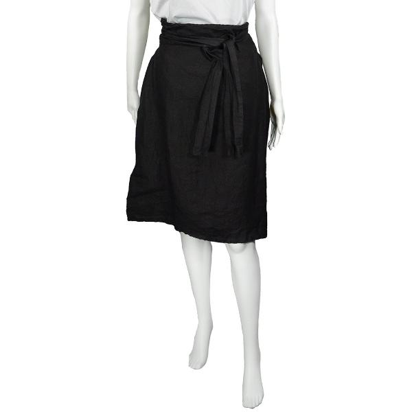 SALE! Linen Bunch Skirt in Black by Pip-Squeak Chapeau