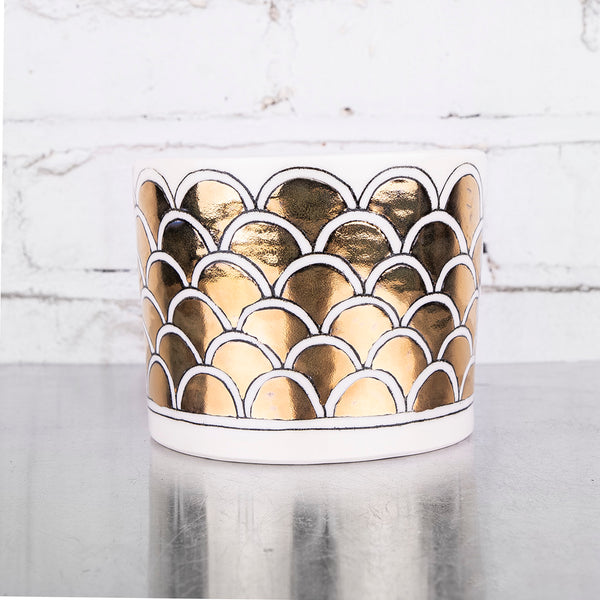 NEW! Arched Gold Cache Pot by Hope & Mary