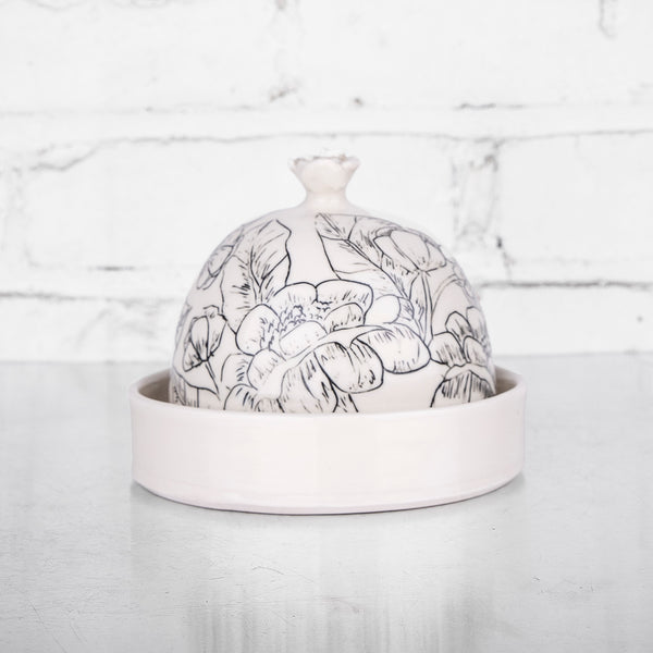 NEW! Round Butterdish by Hope & Mary