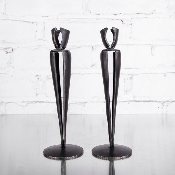 NEW! Candle Holder Pair by Blackthorne Forge