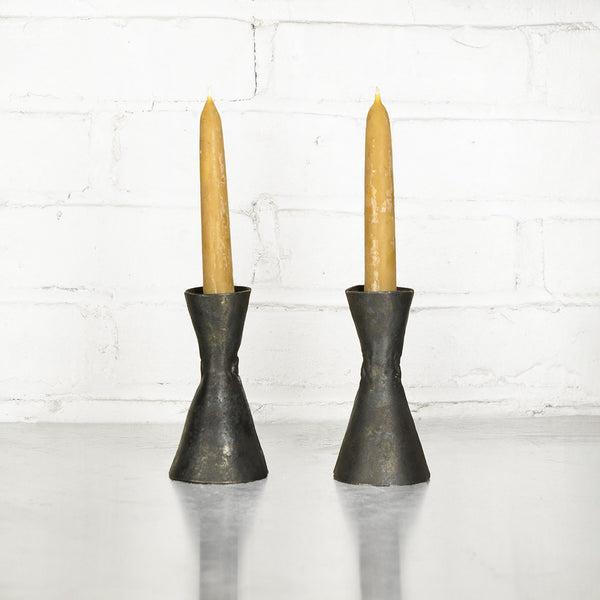 NEW! Hourglass Candle Holder Pair by Blackthorne Forge