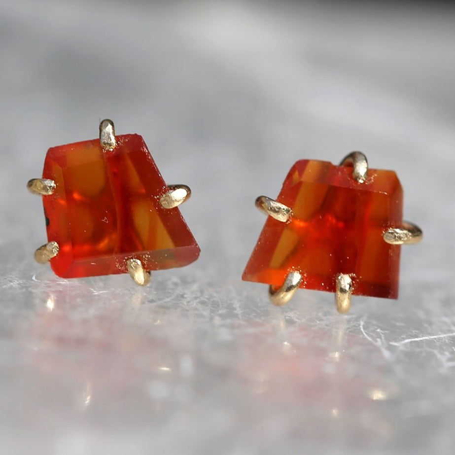 NEW! Small Carnelian Studs by Variance Objects