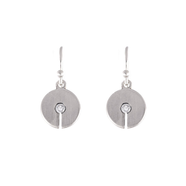 NEW! Celah Medium Grey Diamond Earrings by Dan-Yell