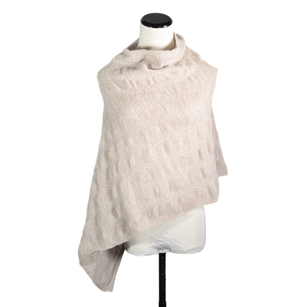 NEW! Ceylon Capelet in Oatmeal by Olena Zylak