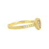 NEW! Hewn Oval Cognac Diamond Pave Ring by Dawes Design