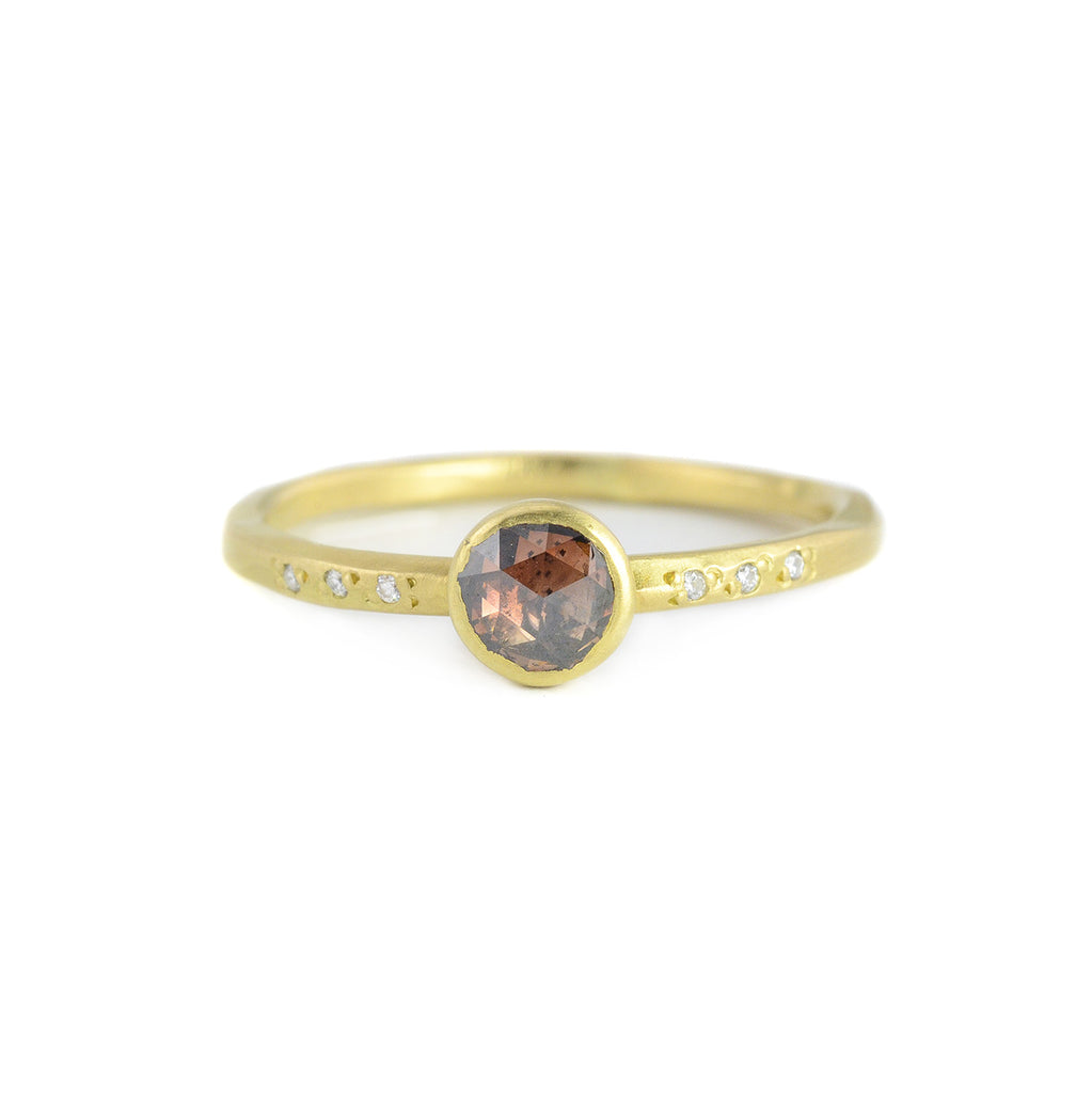 .41ct Round Champagne Diamond Chloe Setting Ring by Sarah Mcguire