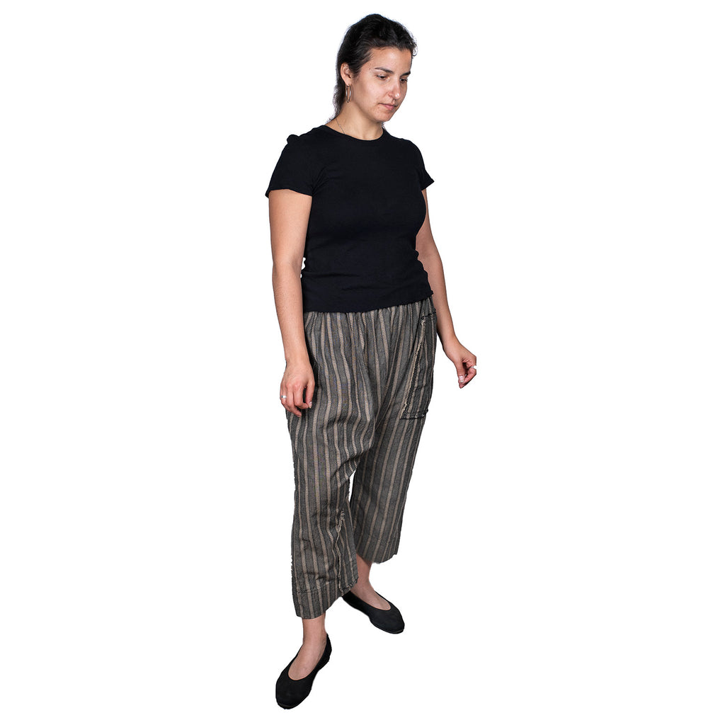 SALE! Chap Pant in Stripe Taupe by Tina Givens