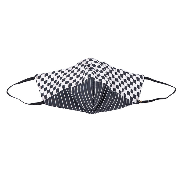 NEW! Umsteigen Bamboo Mask in Grey Checkers & Stripes