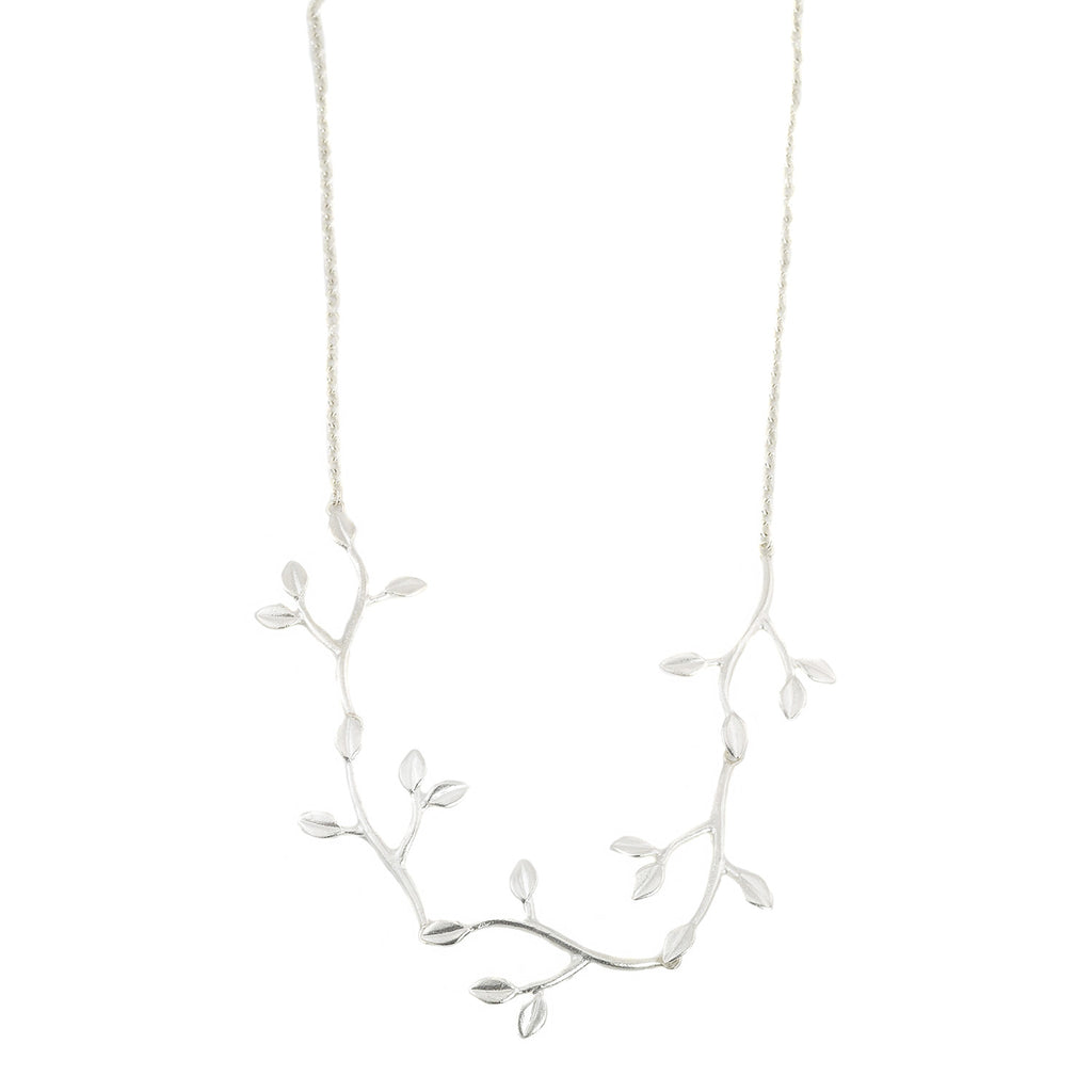 NEW! Silver Cherry Tree Limb Half Necklace by EAM