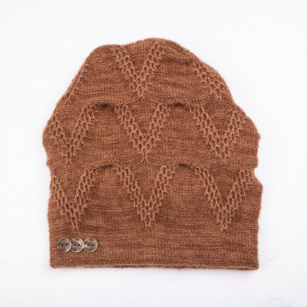 NEW! Chevron Hat in Honey by Olena Zylak