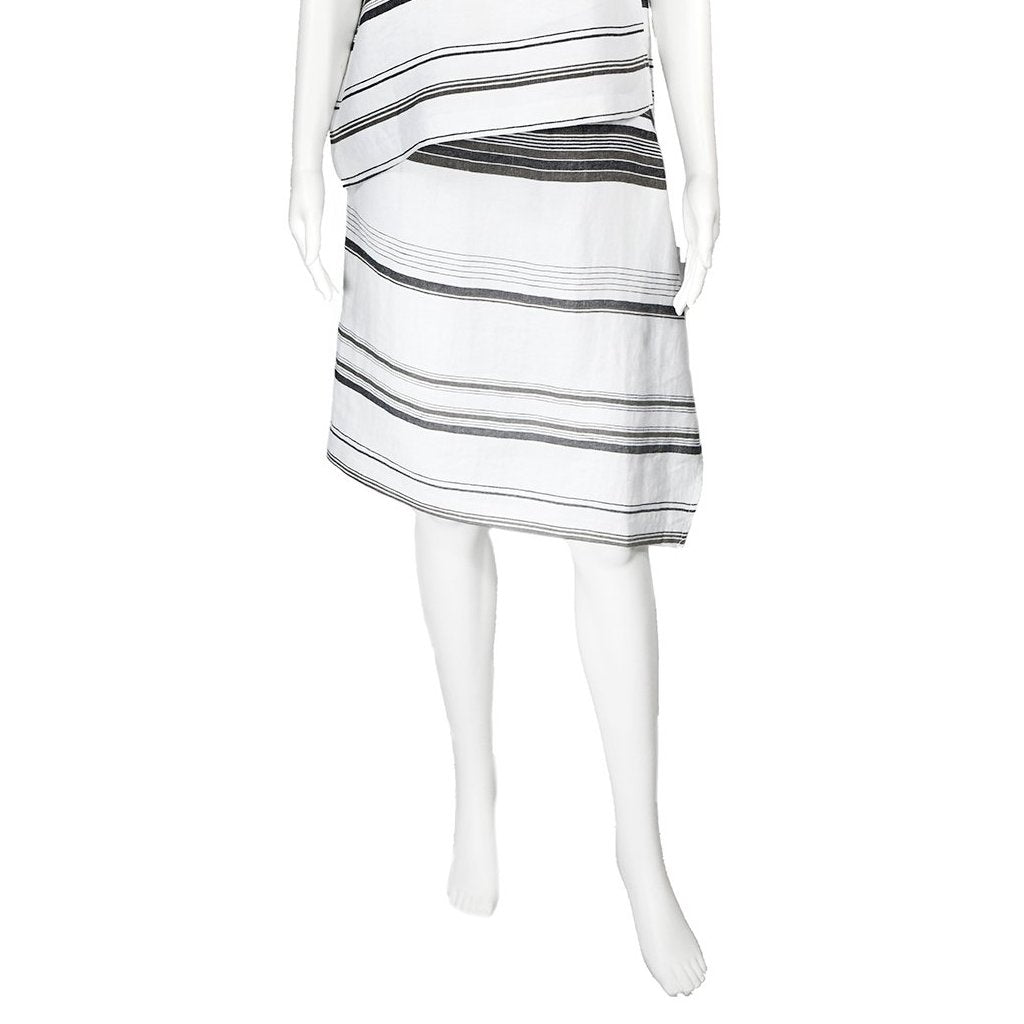 SALE! Chloe Skirt in Striped Linen by Veronique