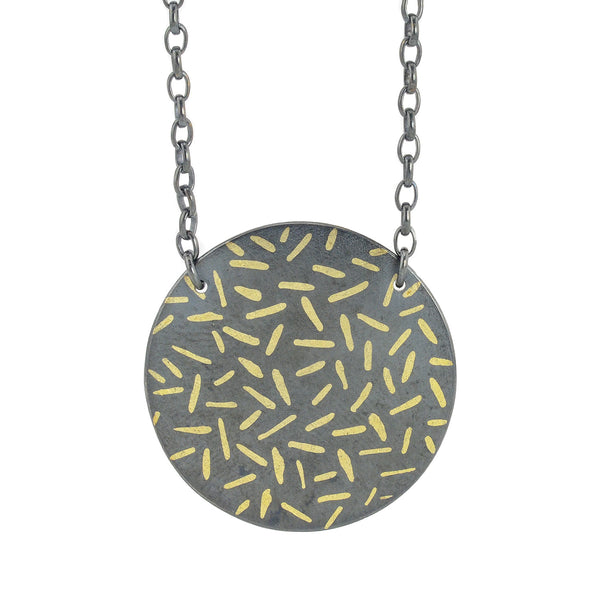 NEW! Circle Dashes Necklace by Heather Guidero