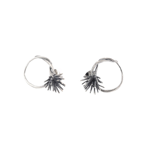 NEW! Thistle Hoop Post Earrings by Chee-Me-No